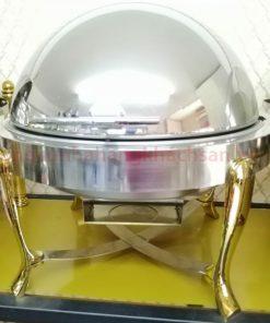 Nồi hâm buffet tròn chân inox vàng BF51161