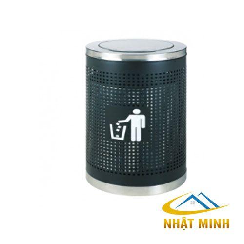 Thùng rác trang trí tròn nắp lật TS14T16