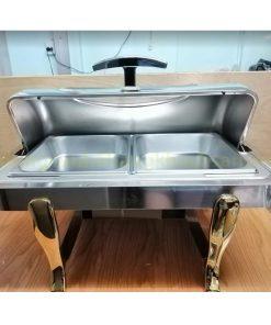 Nồi hâm buffet 2 ngăn chân vàng nắp PC BFS61161-2