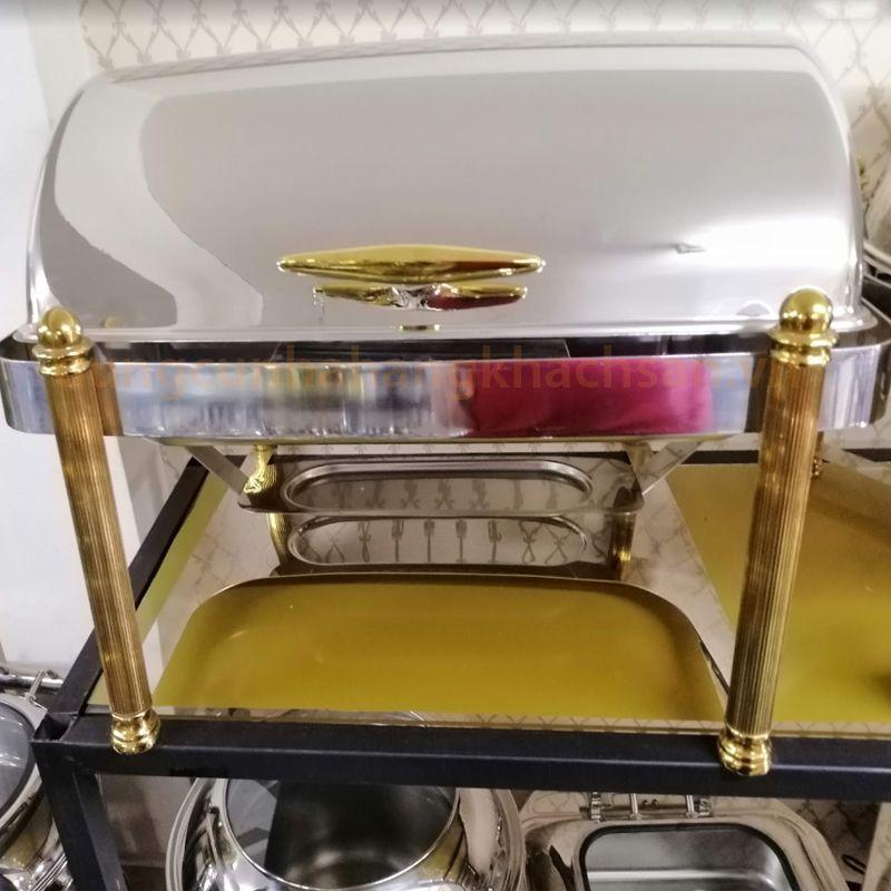 Nồi hâm nóng soup chữ nhật inox chân vàng BF-NM724EG