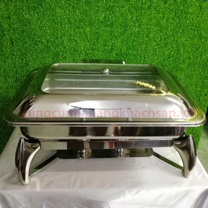 Nồi hâm buffet chữ nhật nắp kiếng dùng điện BFAT62593