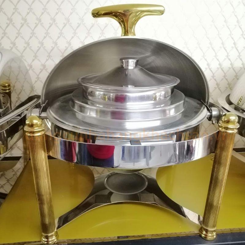 Nồi hâm soup tròn inox chân vàng BF-NM722EG