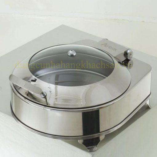 Nồi hâm buffet inox tròn nắp kiếng BFNAT52293