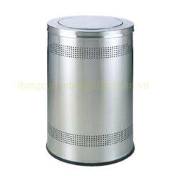 Thùng rác inox tròn nắp lật TS14T08