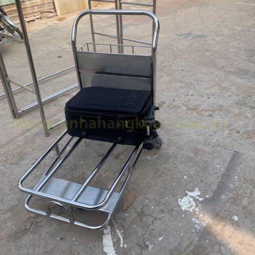 Xe đẩy hành lý sân bay inox TS11X06