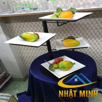 Kệ trưng bày thức ăn 3 tầng BF-NM-KB002