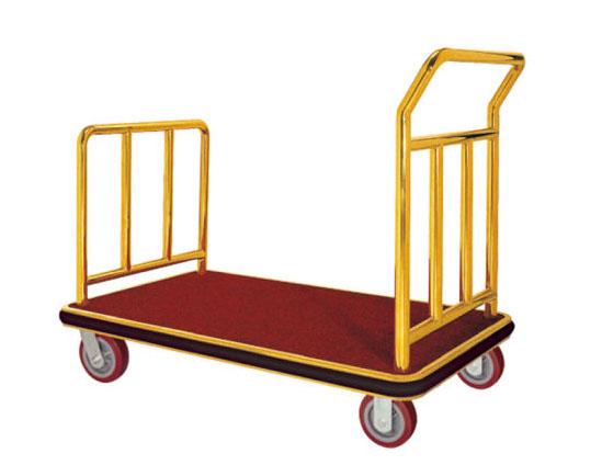 Xe đẩy hành lý chữ U mạ vàng