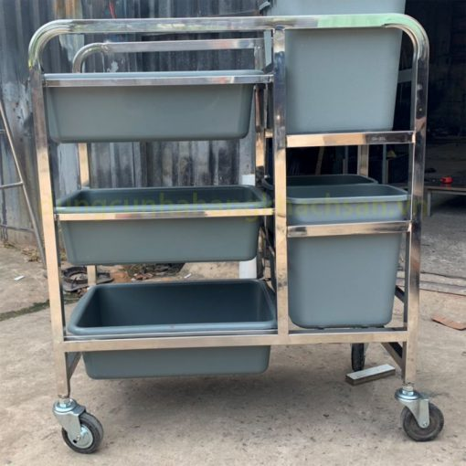 Xe thu gom thức ăn có hộc rác PT-NM-XTA05