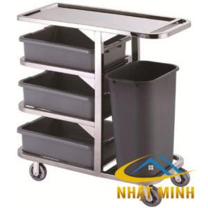 Xe thu gom thức ăn có hộc rác PT-NM-XTA04