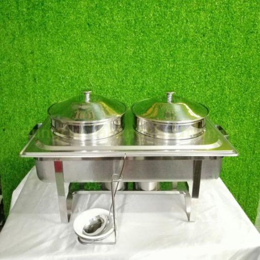 Nồi hâm Soup inox chữ nhật 2 ngăn giá rẻ BF-NM433S-201