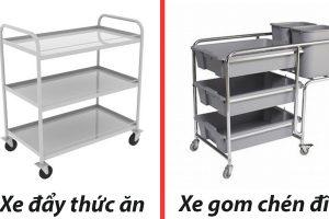Sự khác biệt của xe đẩy thức ăn và xe thu gom chén đĩa