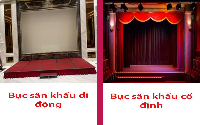 Bục sân khấu di động và bục sân khấu cố định