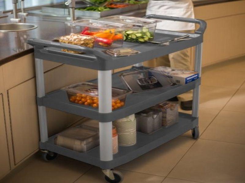 Lý do tại sao nhà hàng khách sạn cần sử dụng xe đẩy thức ăn 3 tầng bằng nhựa?