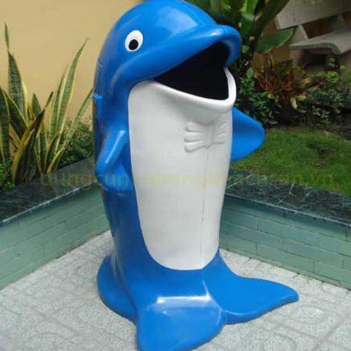 Thùng rác hình cá heo TR-TCAHEO