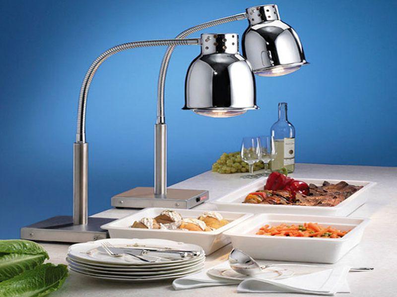 Đèn hâm nóng thức ăn bóng tròn thường được sử dụng trong những bữa tiệc