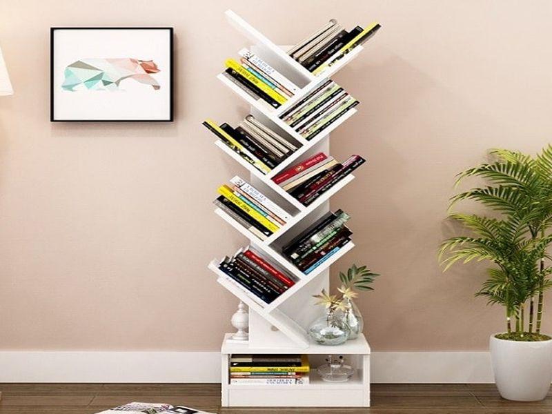 Kệ sách báo bằng gỗ phù hợp với nhiều không gian sống khác nhau