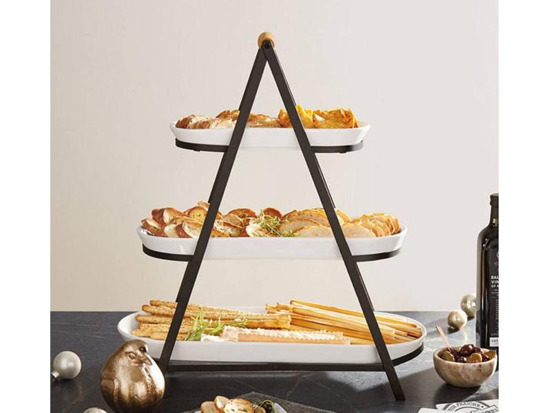 Kệ trang trí thức ăn kim tự tháp mang phong cách hiện đại