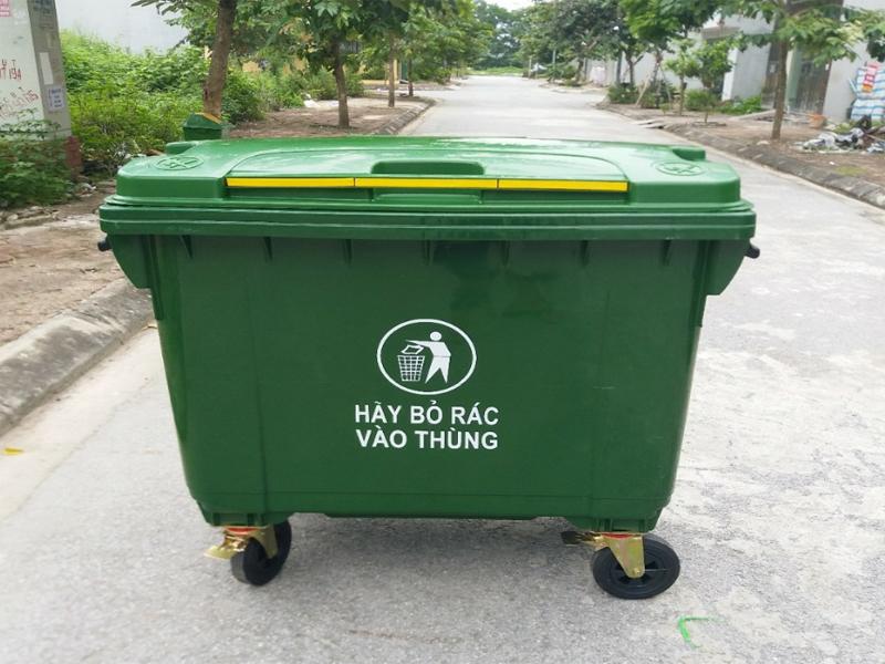Ưu điểm của loại thùng rác này là có độ bền và độ dẻo dai cao
