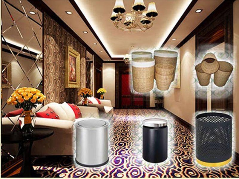 Vị trí đặt thùng rác trong phòng khách sạn phù hợp với phong thủy Ngũ Hành