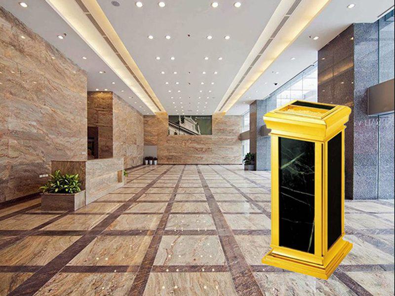 Mẫu thùng rác được trang bị cho không gian của trung tâm thương mại