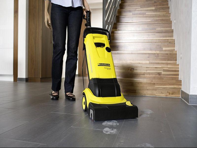 Các bước khi sử dụng máy chà sàn