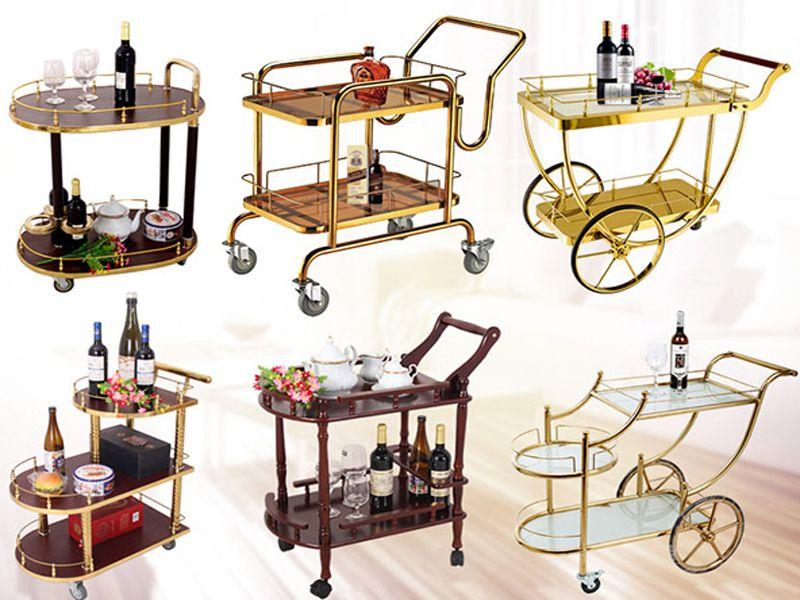 Những mẫu xe đẩy rượu được lựa chọn nhiều nhất hiện nay tại nhà hàng khách sạn