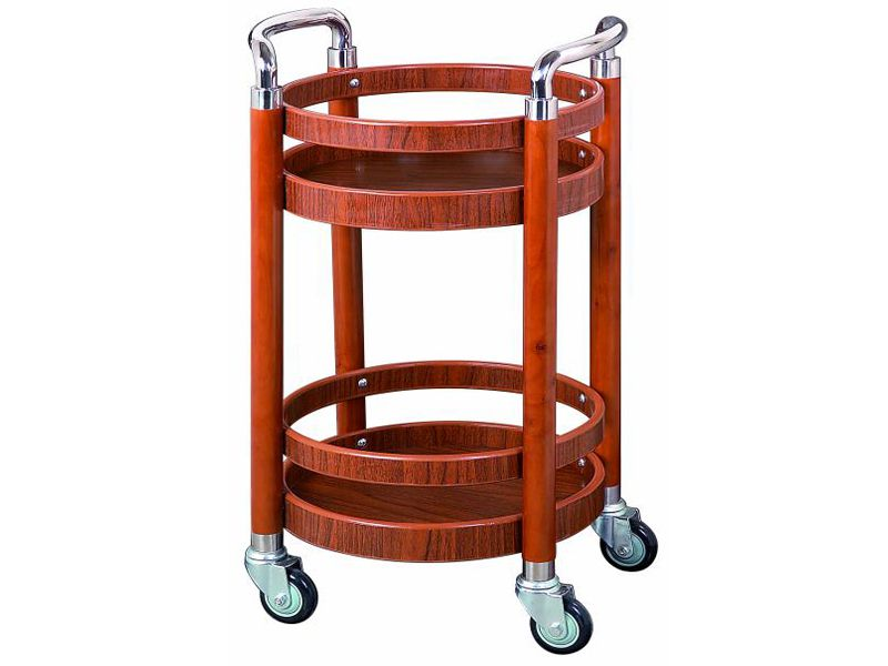 Xe đẩy phục vụ rượu tròn được thiết kế giúp tiết kiệm không gian