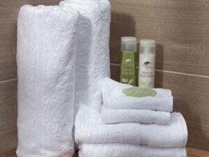 Khăn mặt và khăn tắm là những vật dụng thường được trang bị sẵn ở mỗi phòng nhà nghỉ, khách sạn