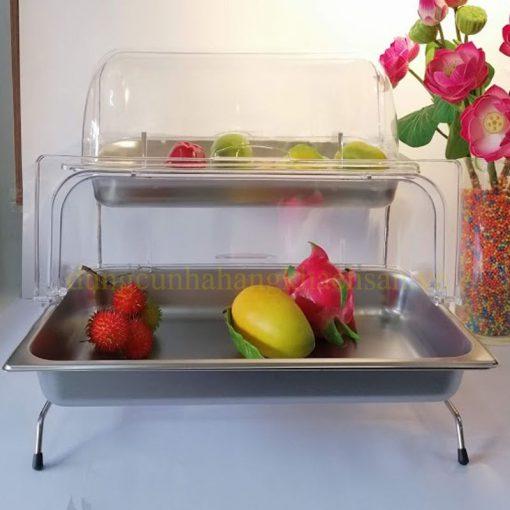 Kệ trưng bày thức ăn 2 tầng có nắp PC BF-NM-KB010