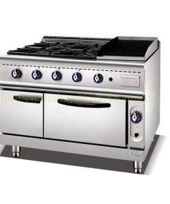 Bếp âu 4 họng có lò nướng & Lò nướng đá BE-RS-4H
