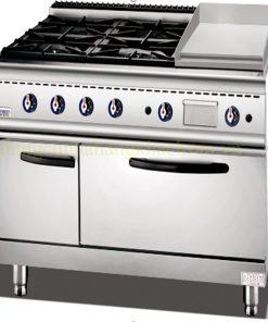 Bếp âu 4 họng có lò nướng & Lò Chiên Phẳng BE-TQ-4G