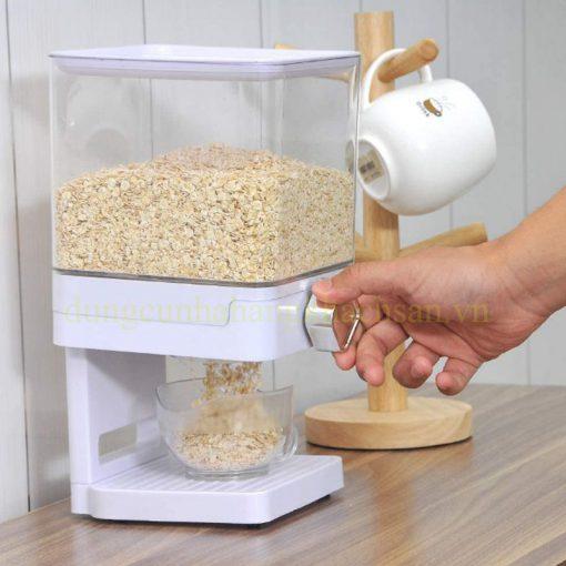 Bình đựng ngũ cốc 1 ngăn màu trắng BCD01W