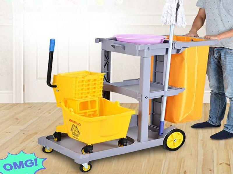 Các bước sử dụng xe đẩy dọn vệ sinh đúng cách