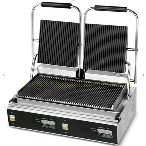 Máy nướng thịt đôi có rãnh ZH-813-B