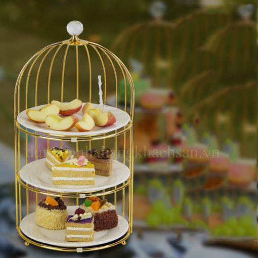 Kệ trang trí thức ăn lồng chim 3 tầng BF-NM-KB019