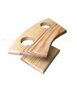 Khay gỗ trang trí Temaki – 2 lỗ NM-BF0012