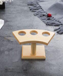 Khay gỗ trang trí Temaki – 3 lỗ NM-BF0013