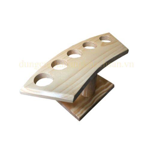 Khay gỗ trang trí Temaki – 5 lỗ NM-BF0014