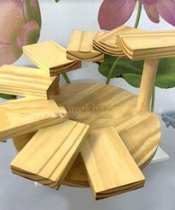 Khay gỗ trang trí bậc thang 8 tầng NM-BF0015