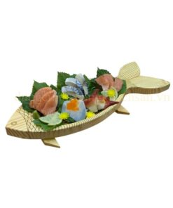 Khay gỗ trang trí hình con cá NM-BF004