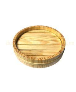 Khay gỗ tròn trang trí NM-BF001