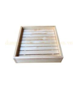 Khay gỗ vuông trang trí NM-BF002