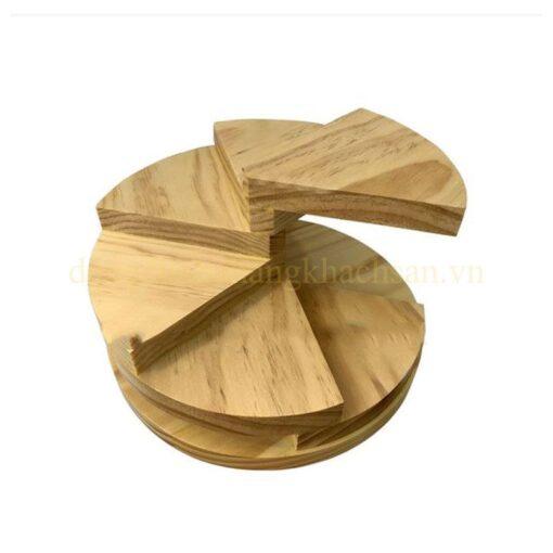 Khay gỗ trang trí bậc thang 6 tầng NM-BF0016