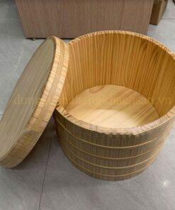 Thố gỗ trang trí có nắp NM-BF006