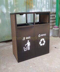 Thùng rác gỗ ngoài trời NM-TS001