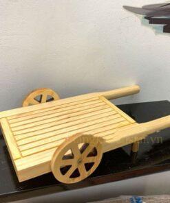 Khay gỗ hình xe kéo bò NM-BF0018