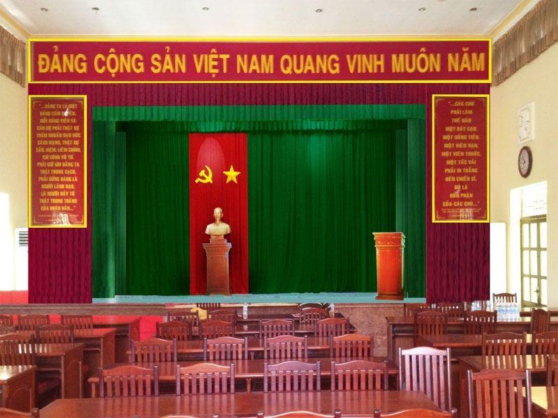 Bục phát biểu thường được sử dụng ở hội trường, sự kiện,...