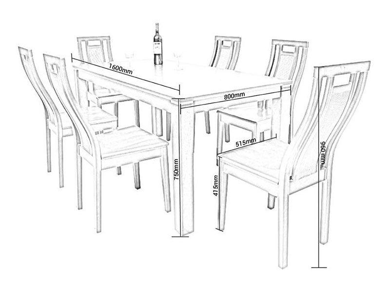Kích thước tiêu chuẩn của một chiếc ghế tiệc dựa vào chiều cao trung bình của người Việt Nam