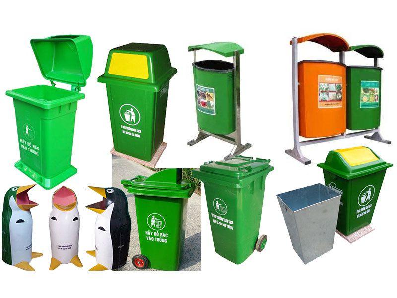 Một số mẫu thùng rác nhựa phổ biến nhất