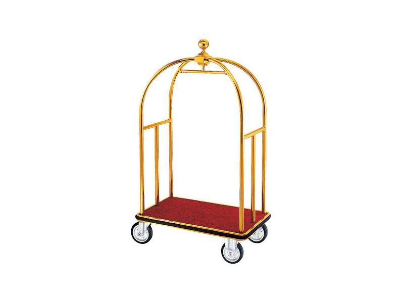 Xe đẩy hành lý inox mạ vàng sang trọng và đẳng cấp